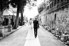 Photography: Alessio Quartaroli & Marta Puglia - studioaq.com Wedding Dress: Manuel Mota (Pronovias) - www.pronovias.com   Read More on SMP: http://www.stylemepretty.com/destination-weddings/2015/01/13/elegant-tuscany-castle-wedding/
