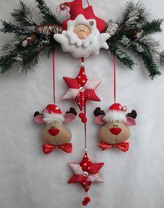 Weihnachtsmann Elch Sterne Girlande Anhänger Landhaus Nostalgie Tilda Stoff.... | Möbel & Wohnen, Dekoration, Sonstige | eBay!