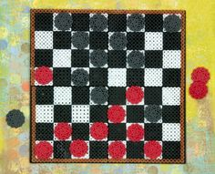 Create your own Checkers gameboard and pieces with Perler Beads. It's more fun playing on a board you made yourself, and this one is so easy. Start a tournament on family game night!