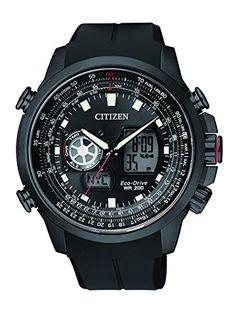 Citizen Herren-Armbanduhr XL Promaster Sky Analog - Digital Quarz Kautschuk JZ1065-05E - http://on-line-kaufen.de/citizen/citizen-herren-armbanduhr-xl-promaster-sky-quarz