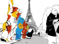 À l'occasion du 25e anniversaire du pacte d'amitié entre Paris et Berlin, les « United Buddy Bears » (Oursons Unis) ont pris leurs quartiers au Champ de Mars pendant plus d'un mois l'automne dernier.