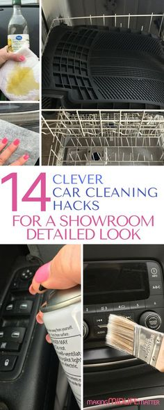 These 13 car cleaning hacks will have your car looking like you just drove it off the lot. Get a professional detailed look without spending tons of money. You will wonder why you didn't think of these tricks yourself. #carcleaninghacks #deepcleaning #cardetailingtips via @makingmidlife