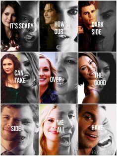 I love how it's all vampires.... Then there's Bonnie... É assustador como o nosso lado escuro pode assumir o lado bom que todos nós temos.