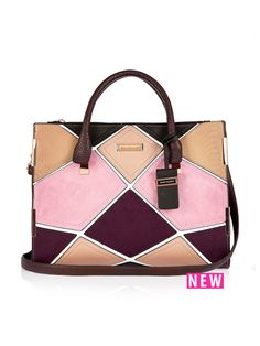 River Island Patchwork Tote Bag | very.co.uk