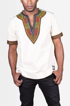 Dashiki Organic - African T-Shirt - Men's