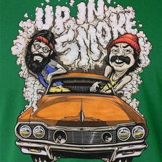 Cheech and Chong Up In Smoke Cartoon Cartoon Kunst, Cartoon Art, Cartoon Smoke, Cheech Y Chong, Arte Do Hip Hop, Marijuana Art, Cannabis Oil, Weed Humor, Weed Funny