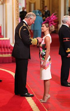Katherine Jenkins receives the OBE from Prince Charles