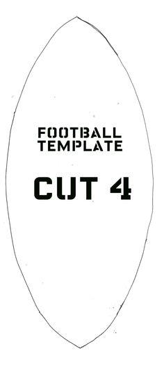 TEMPLATE for Burlap Football Door Hanger BBC MOPS Crafts 2013-14 - door hanger template