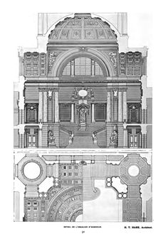 Competition design for a monumental staircase inside a palace of justice