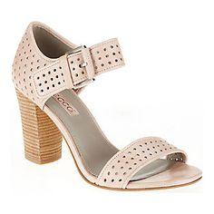 "Ecco ""Omak"" Perf Sandals in Rose Dust."