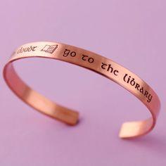 Harry Potter Bracelet - When in Doubt Go To the Library - Hermione Bracelet