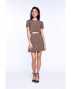 The Edit by Seventeen - Knit Set - If you're looking for stylish and flattering pieces that go perfectly together, then our A-line miniskirt and crop top (sold separately) is for you. Our fave detail? The faux leather accent on the neckline, and the exposed zip closure on the back. Everyone will hate seeing you go, but love watching you leave.