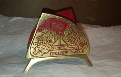 Vintage Made in Israel Early 1960s Travel Souvenir Colored Brass