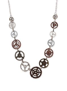 """""""High Gear Steampunk Necklace - your basic steampunk necklace ladies and gentlemen.""""   :)"""