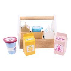 Dřevěné potraviny v přenosné krabičce alt=