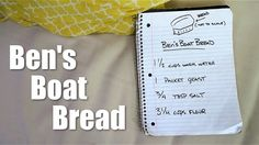 In this vlog, Ben bakes bread on a boat using simple ingredients. I've made bread 3 times now. Easy Bread Recipes, Bread Baking, Sailboat, Boats, Sailing, Folk, Easy Meals, Notebook, Ocean