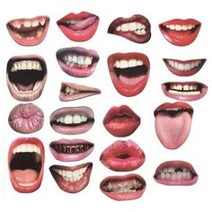 Carta Collage, Wall Collage, Collages, Funny Mouth, Diy Photo Booth Props, Photo Booths, Lips Photo, Photocollage, Collage Design