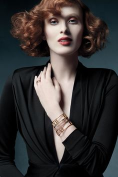 A modern Moment! Model Karen Elson wearing Atlas® designs. #TiffanyPinterest