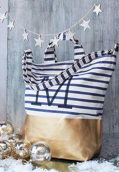 love this dipped metallic tote bag http://rstyle.me/n/s2uzbr9te