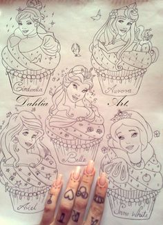 • cute inked tattoo heart pearls ariel beauty and the beast Key Aurora girly cinderella Sleeping Beauty Belle snow white Disney Princess minnie mouse tattoo design crown DOTS finger tattoo dahliaart The Little Mernaid miss-dahlia-art •