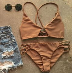 """Details: - Swimwear Type: Bikini - Gender: For Women - Material: Polyester,Spandex - Weight: 0.220kg - Package: 1 x Bra 1 x Briefs - Color: As picture Free Shipping ! INCH: S:Bust: 32-34 """", Waist: 24-"""