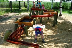 Natural Playgrounds | Living Landscapes Great site, inspiring playspaces. CLICK ON WEB SITE FOR GREAT IDEAS; Benches etc.