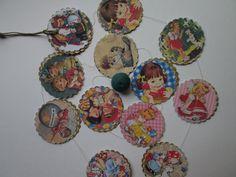 Childhood Memories  Vintage Inspired Paper Garland by futtatinni, $10.00