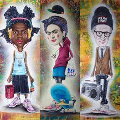 #art#iconic#portraits#woodyallen#basquiat#fridakahlo#streetculture
