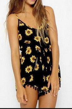Black Sunflower Romper - Summer Style 2015