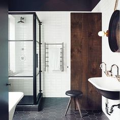 Modern Master bathroom inspo via architectEM graydonpictures nikoleherriott interior design style via consortdesign- bathroom, design, love