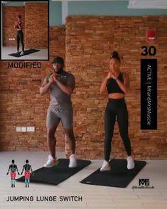 Hiit Workout Routine, Full Body Hiit Workout, Hiit Workout At Home, Gym Workout Videos, Workout Challenge, Exercise Routines, Workout Exercises, Fitness Studio Training, Cardio Training
