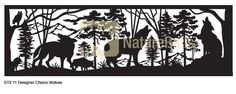 Artistic Railing Panels Inserts in Powder-Coated Steel. Choose from many laser-cut designs. Great for deck, balcony, porch or loft. Metal Railings, Deck Railings, Stair Railing, Custom Fireplace Screens, Wolf Silhouette, Custom Metal Art, Nature Artists, Balcony Railing, Iron Work