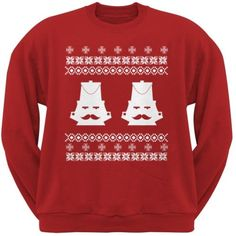Nutcracker Ugly Christmas Sweater Red Adult Sweatshirt - Small