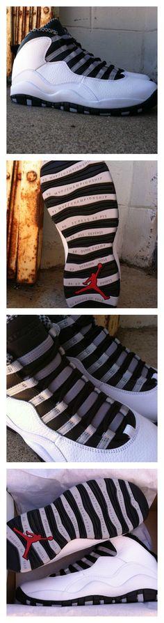 """#ReleaseReport: Jordan Retro 10 """"Steel"""" releases 10/12. Pin now, then cop your pair when they drop. #Eastbay"""