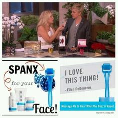 Ellen loves the Rodan and Field's AMP MD! Best spent minute in skincare! https://nataliedavis.myrandf.com/ #Ilovemyroller #spanxforyourface