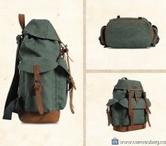 LaptopBackpackCanvasBackpackTravelRucksacks Material:Canvas, Leather Color:Green Hardware: MetalHardware Closure:Drawstring Gender: Unisex Size: 36*47*17 cm How to wash a backpack Follow us on Instagram @bagshopclub