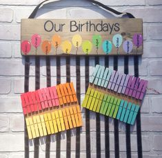 Birthday chart balloons - class birthdays - classroom decor - rainbow classroom - colorful classroom - kindergarten class - teacher gift This colorful class birthday graphic is the perfect way to show your student birthdays! Class Teacher, Teacher Gifts, Teacher Education, Classroom Teacher, Ks2 Classroom, Teacher Presents, Classroom Supplies, New Class, Future Classroom