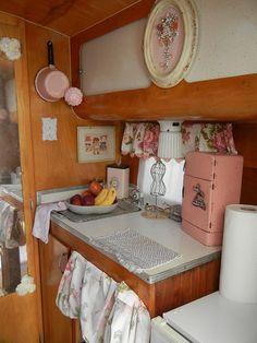 Northern Indiana Vintage Camper Rally 2012.  Of course I love the toy fridge on the counter!  Barb M.