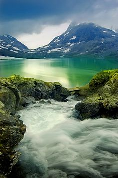 Emerald | Glacier lake. Jotunheim, Norway.   ♥♥
