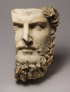 Relief portrait of the emperor Lucius Verus, ca. 166–170; Antonine Roman Marble H. 14 1/2 in. (36.8 cm) The Metropolitan Museum of Art
