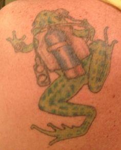Scuba Frog Tattoo