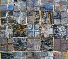 nnokka: L'art textile par Judy Martin (via quilt-stuff) Art Fibres Textiles, Textile Fiber Art, Textile Artists, Sashiko Embroidery, Embroidery Art, Embroidery Stitches, Geometric Embroidery, Boro Stitching, Hand Stitching