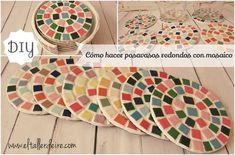 Cómo hacer posavasos redondos con mosaicos   Aprender manualidades es facilisimo.com