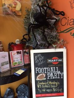 It's Fall in Ciao Bella! #happyhalloween #October #Fall #Pumpkins #fooballparty #footballseason #sundayfootball #mondaynightfootball #ciaobella