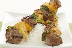 Beef and Vegetable Kabob Dinner recipe