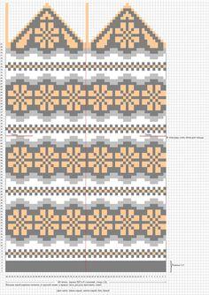 Photo Crochet Mittens Free Pattern, Knit Mittens, Knitted Gloves, Knitting Socks, Knitting Charts, Knitting Stitches, Knitting Patterns, Cross Stitch Designs, Stitch Patterns