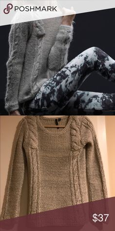 Joe's Jeans Metallic Melange Sweater Mohair blend grey sweater with shreds of silver thread interwoven. Perfect for anyone who likes a little sparkle. Fits well - should fit sizes 0 to 2, XS & S. Joe's Jeans Sweaters