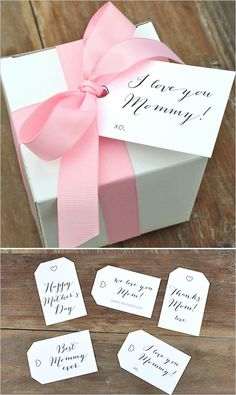 By Jenny Raulli of Bloom Designs for I Heart Nap Time. Today I am sharing some pretty Mother's Day gift tags with you. As the mother to four sweet little one, Mother's Day Best Mothers Day Gifts, Mothers Day Crafts, Happy Mothers Day, Fathers Day, Homemade Gifts, Diy Gifts, Cute Gifts, Mother's Day Printables, Diy Cadeau