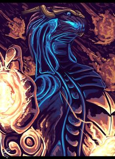 Meteor Shower (Aurelion Sol) by Juustus.deviantart.com on @DeviantArt
