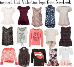 I& always loved cat. Fall College Outfits, Preppy Outfits, Girly Outfits, Casual Summer Outfits, Fall Outfits, Cute Outfits, Fashion Outfits, Cat Valentine Outfits, Ariana Grande Outfits